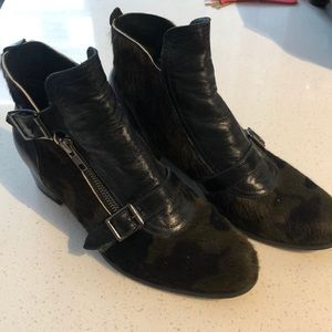Modern Vice Pony Hair ankle booties